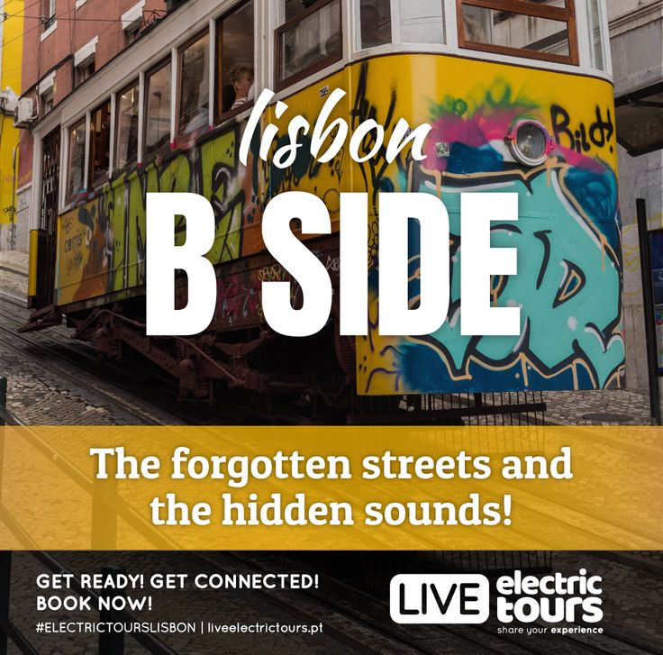 LISBON B SIDE  The forgotten streets and the hidden sounds! FREE WIFI | FREE HOTSPOT | FACEBOOK LIVE GPS AUDIO GUIDE | 100% ELECTRIC | 100% YOU GET READY! GET CONNECTED! BOOK NOW!  #ELECTRICTOURSLISBON