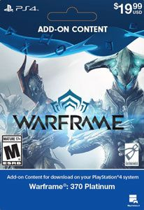 Warframe 370 Platinum - PlayStation 4 [Digital Download]