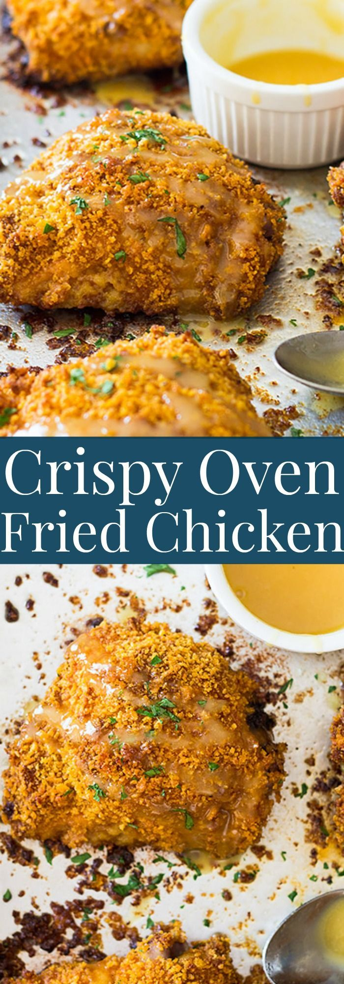 These Crispy Oven Fried Chicken Thighs are a great way to enjoy fried chicken in…