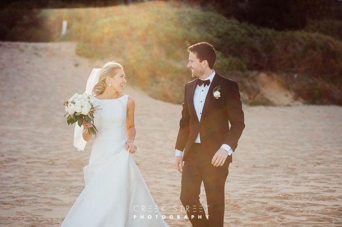 Whale Beach wedding Photos - bride and groom