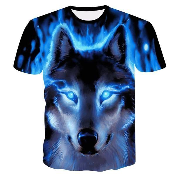 4baf8fa2 Newest Wolf 3D Print Animal Cool Funny T-Shirt Men Short Sleeve Summer Tops  T Shirt Tshirt Male Fashion T-shirt male4XL