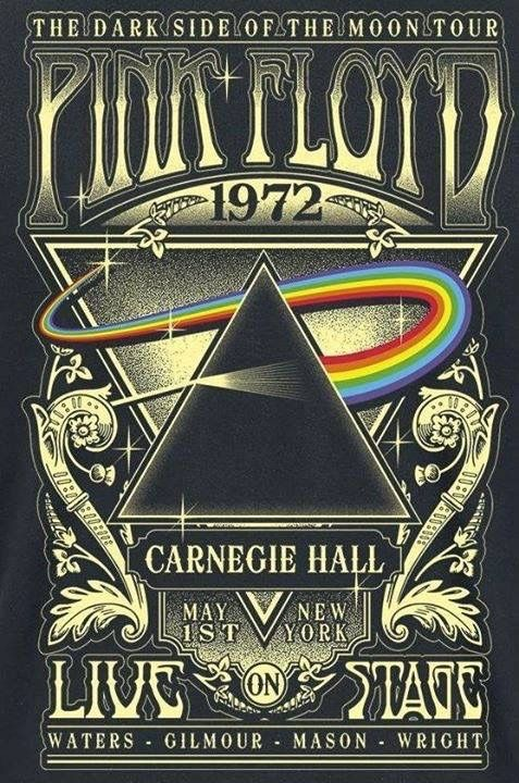 "Classic Rock Concert Posters - chrisgoesrock: ""Pink Floyd - Dark Side of The Moon Tour 1972 Poster"""