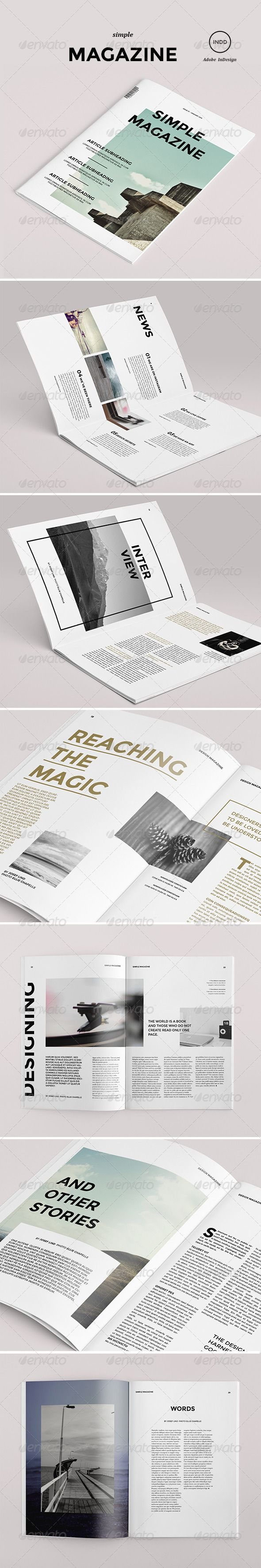 Simple Magazine - Magazine Print Template. #blackafricagroup #simple #magazine #template #print #minimalistic #clear #type #typography #design #graphicdesign