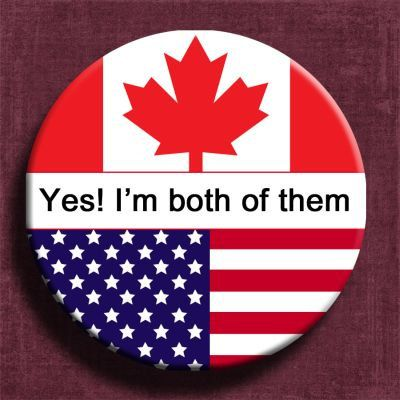 "2.25"" button pin,canada flag,usa flag,citizenship ceremony,us citizenship,dual citizenship,custom pin,personalized pin"