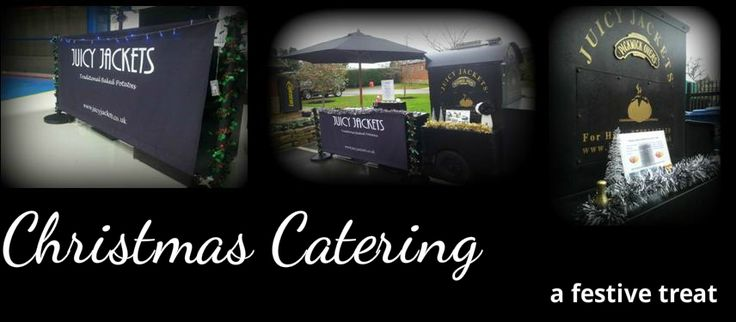 Catering ideas for company christmas parties. Traditional jacket potato catering #christmaspartyideas #christmasparty #christmascatering #christmasofficeparty #officepartycatering #officepartycaterers