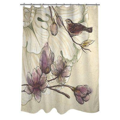 Thumbprintz Rosette Bird Shower Curtain & Reviews | Wayfair