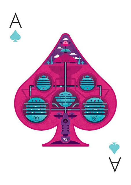52 aces playing cards