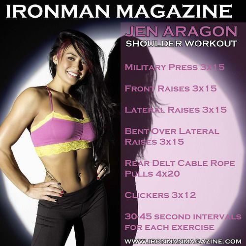Killer Shoulder Workout from Fitness Model, Jen Aragon