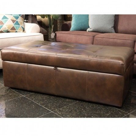 The GABS Morrison Brown Leather Storage Ottoman Is A Perfect Storage And  Decor Solution. This
