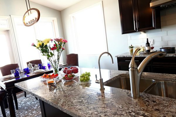 Granite Tops - mitred maple cabinets. #CougarCustomCabinets design