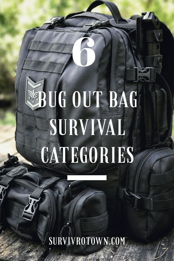 6 Bug Out Bag Survival Categories