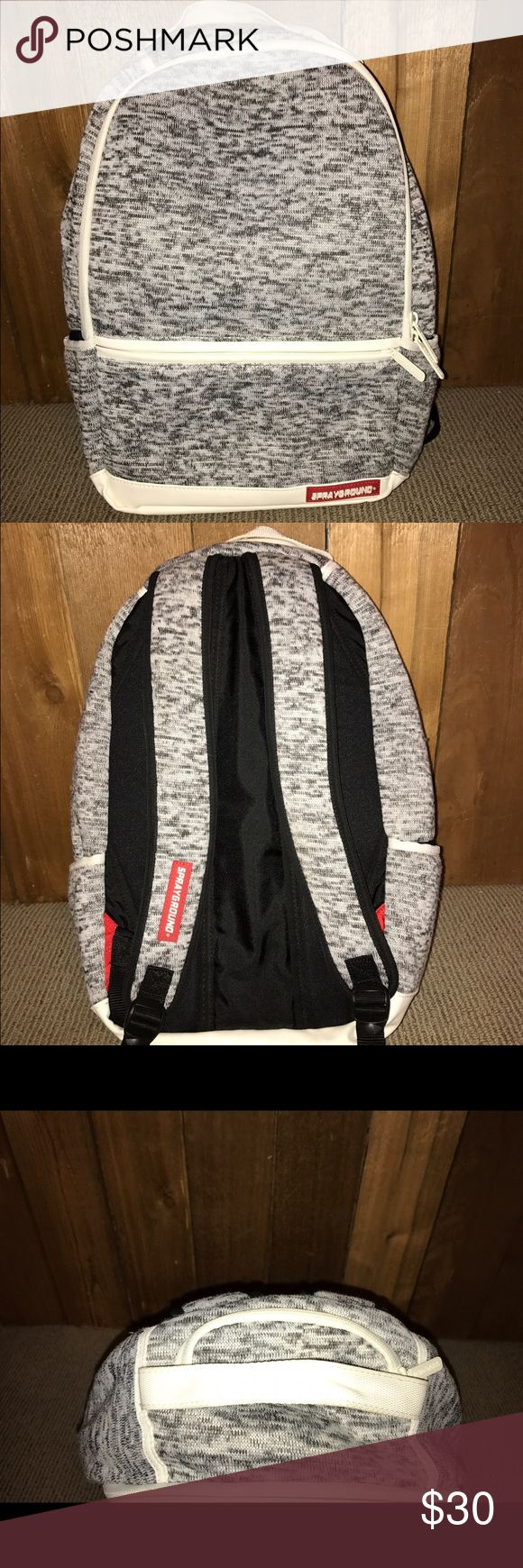 Spray ground back pack Worn for 1 week, it was big enough for his textbooks. Knit school bag. No marks, as good as new! Price is negotiable. sprayground Other