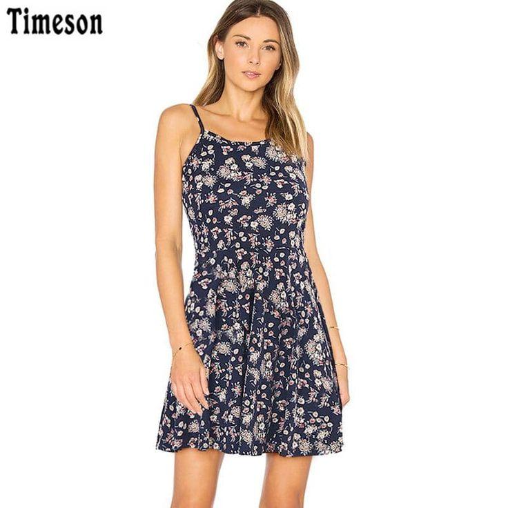 Sleeveless Women Floral Print Dress //Price: $17.95 & FREE Shipping //     #fashion