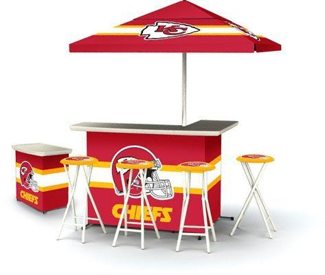 Kansas City Chiefs Portable Bar with Stools and Table //.  sc 1 st  Pinterest & 132 best Kansas City Chiefs images on Pinterest | Man caves ...