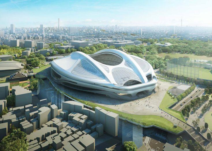 Stadium for Tokyo 2020 Olympic designed by Zaha Hadid.