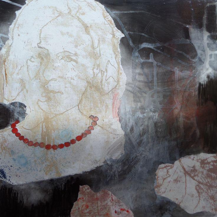 Irina Schuvaloff, The heritage, 2016, mixed media on MDF-board, 50 cm x 50 cm