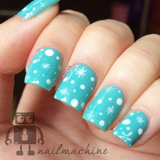 51 best Fingernail art (Winter) images on Pinterest | Nail ...