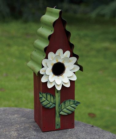 Take a look at this Brown Flower Birdhouse by Transpac Imports on #zulily today!