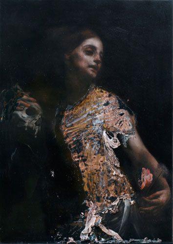 Larvatorum, 2010, oil on copper, 70 x 50 cm