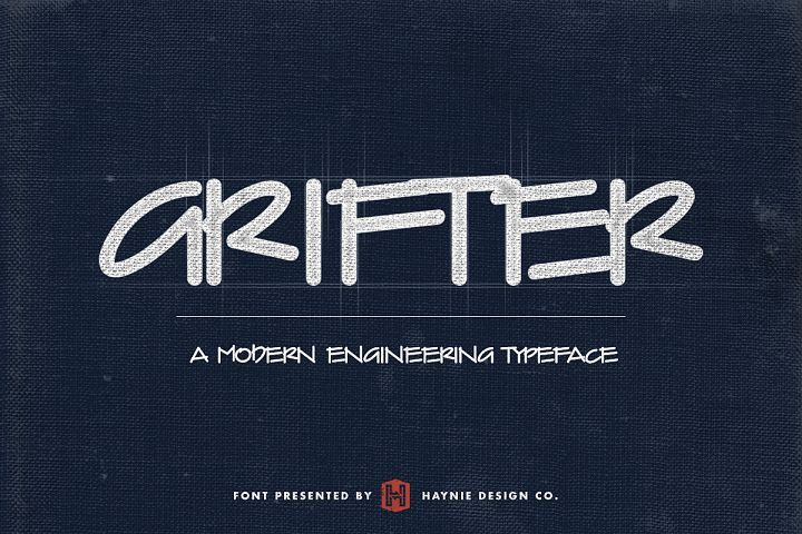 Grifter Architect Blueprint Handwriting Font from FontBundles.net