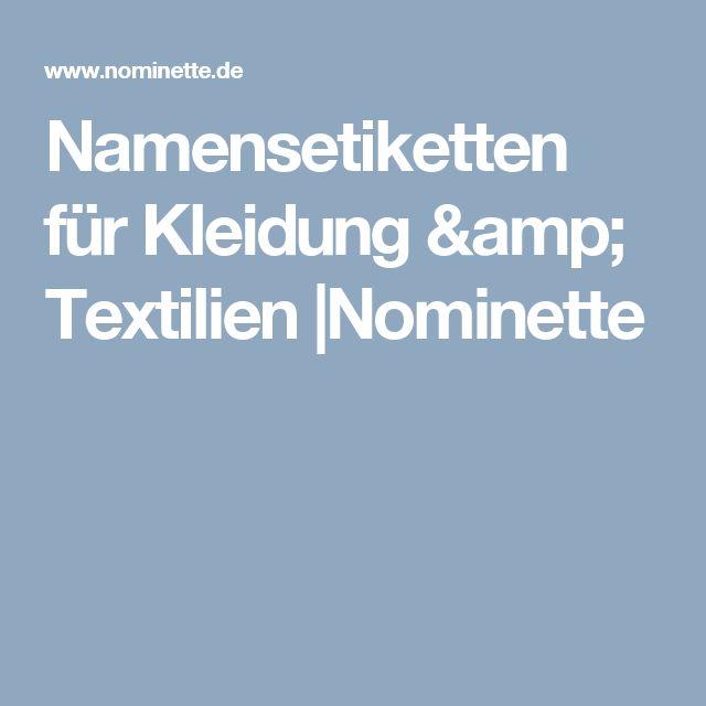 Namensetiketten für Kleidung & Textilien  Nominette