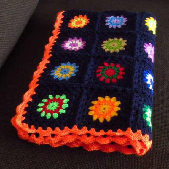 Colourful baby blanket for a special baby, toddler or child close to your heart. Available to buy from my Phoenix Smiles Etsy store