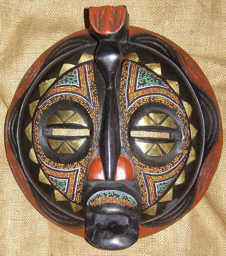 African Masks - Baluba Mask 2 - Front - Click for a more detailed view of this African Mask.