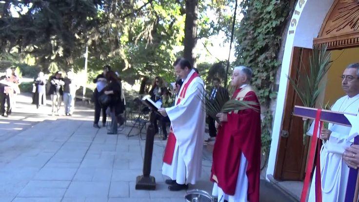 Santuario Cenáculo de Bellavista, Domingo de Ramos-bendición y procesión