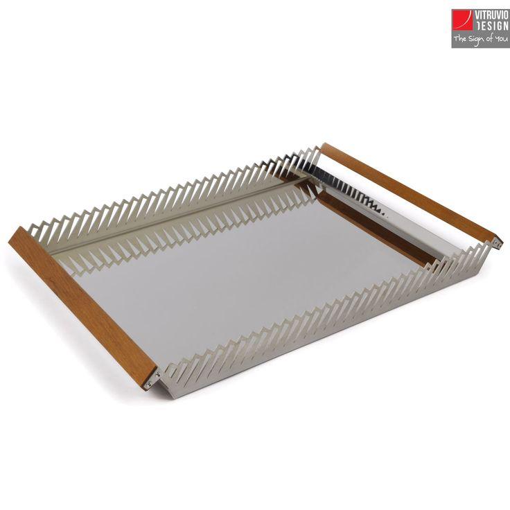 Vassoio di design in acciaio | Made in italy | Vitruvio Design