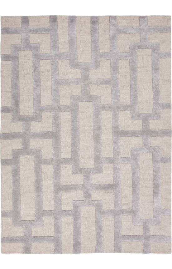 City Collection Dallas Rug In Silver Gray U0026 Medium Gray Over Scaled Sharp  Geometrics Characterize This Striking Contemporary Range Of Hand Tufted Rugs.  The ...