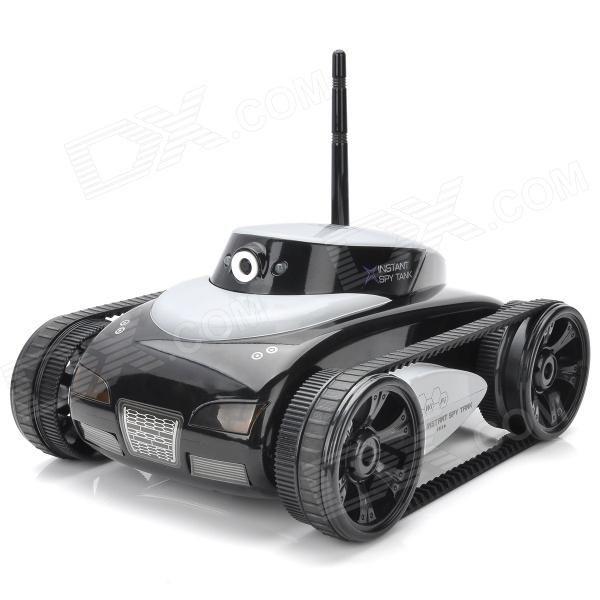 iPhone / iPad IOS App Controlled 2-CH Wireless Spy Tank w/ 300KP Camera - White + Black (6 x AA)