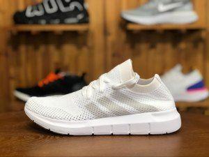 f3887377564bf Mens Womens Adidas Swift Run Primeknit White CQ2892 Running Shoes ...