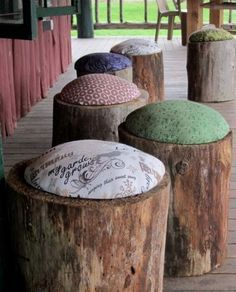 turning large stumps into furniture - Google Search