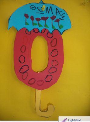 ...Το Νηπιαγωγείο μ' αρέσει πιο πολύ.: Το Ο,ο του Οκτώβρη, του Όχι κια της ομπρέλας.