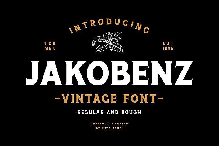 Jakobenz Vintage Serif Font Serif Fonts Vintage Fonts New Fonts