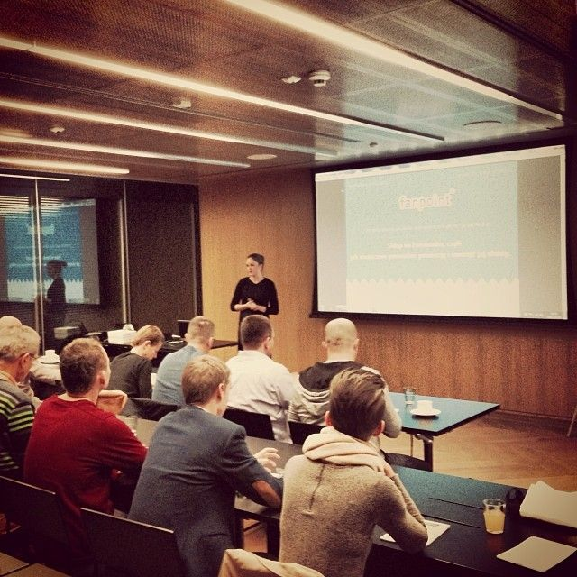 We train social media ninjas, too:) Natalia teaches owners of online shops how to promote their business with Fanpoint tools.   October, 2013