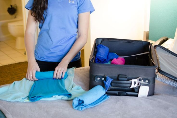 11.  Roll Your Clothes Instead Of Folding Them!
