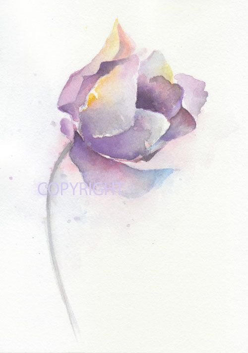 Flower flower print giclee watercolor flower giclee by ChiFungW, $18.00