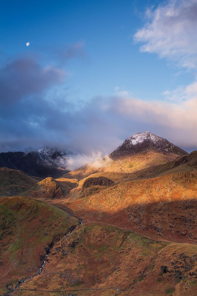 Touched by Light - Crib Goch, Snowdonia (by Chris Miles)