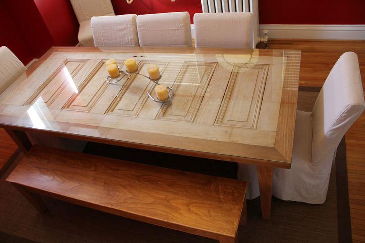 doors repurposed into tables | Repurposed 5-Panel Door Makes Exquisite Dining Table