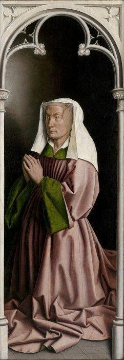 Жена донатора (Лисбетт Борлю). Ян ван Эйк