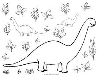 free printable dinosaur coloring page - Free Printable Dinosaur Coloring Pages