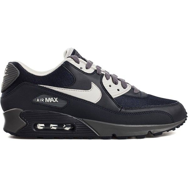 Nike Nike Air Max Essential ($205) ❤ liked on Polyvore featuring mens, men's shoes, men's sneakers, shoes, sneakers, dark grey, sports fashion and sports shoes