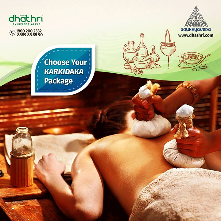 """""""Get drenched in the refreshing energy of the vibrant monsoon"""" Get your Karkidaka packages now: http://bit.ly/1Izxfx2  During monsoons the tridoshas namely Vata, Pitta and Kapha , are aggravated and hence the monsoon treatment is followed to bring about a balance in the body thus bringing about harmony with nature."""