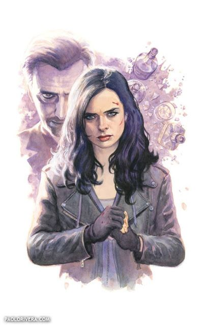 Jessica Jones and the Purple Man, by Paolo Rivera