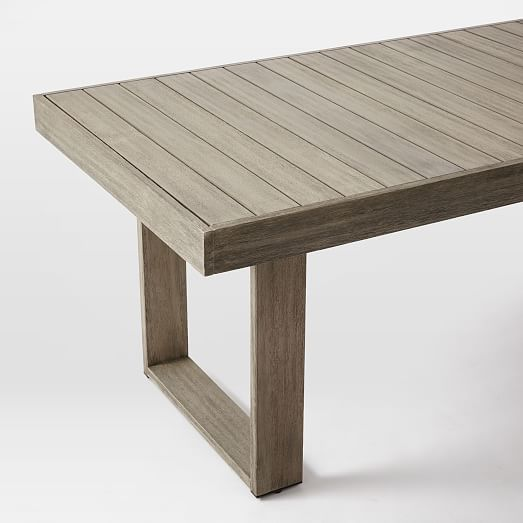 Portside Dining Table Set: Expandable Table + 6 Textiline Chairs, Weathered  Gray