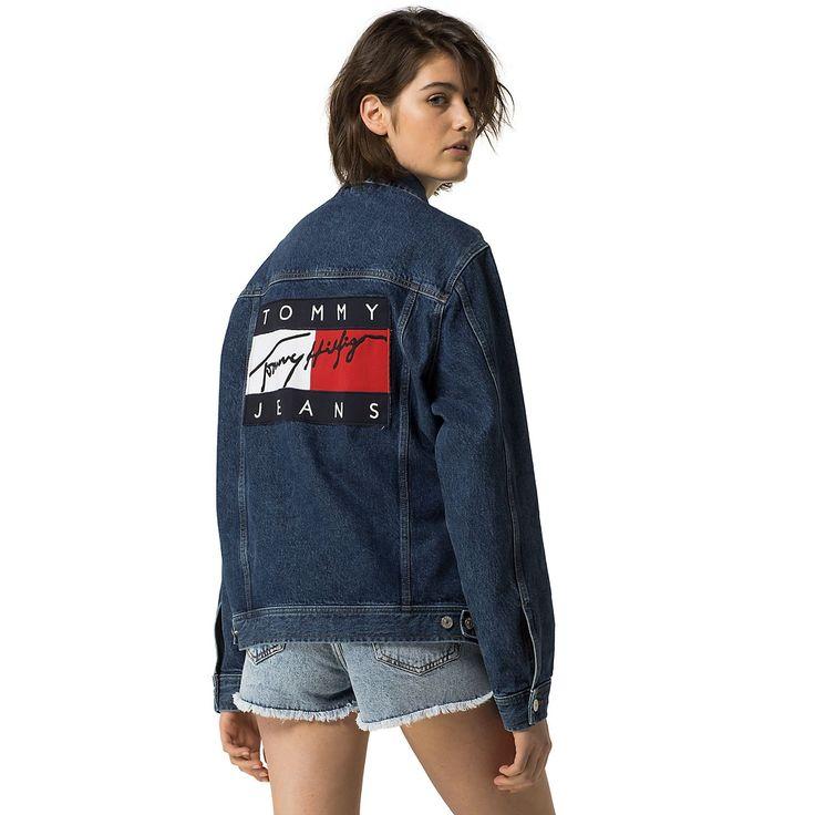 Hilfiger Denim Tommy Jeans Unisex Flag Denim Jacket