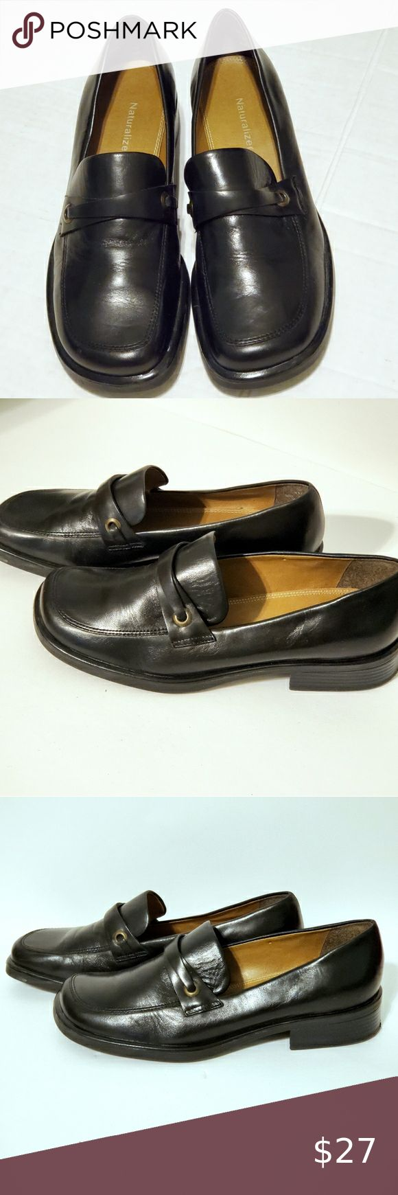 A Gorgeous Nearly New Pair of Elegant Naturalizer Genuine Leather Women/'s Dark Brown Shoes Size 7M