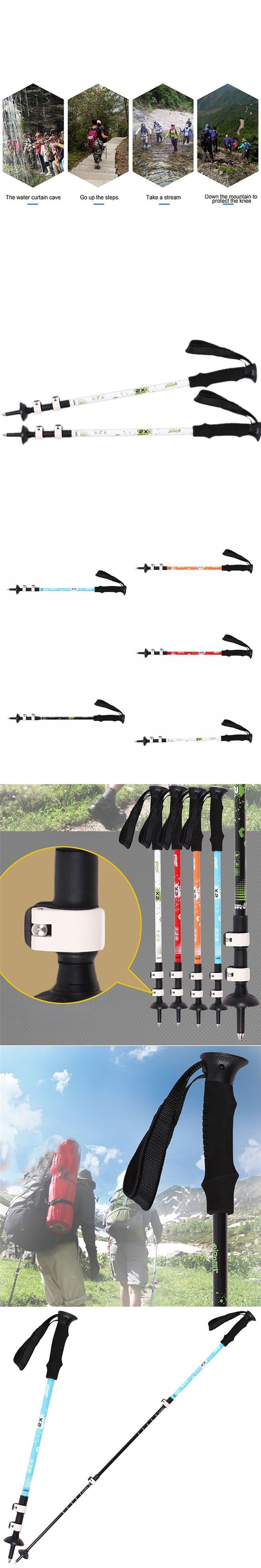 7075 Aluminum Fast Lock Manufacturing Handle EVA Mountain Nordic Walking Sticks Trekking Hiking Climbing Adjustable Handle Cane
