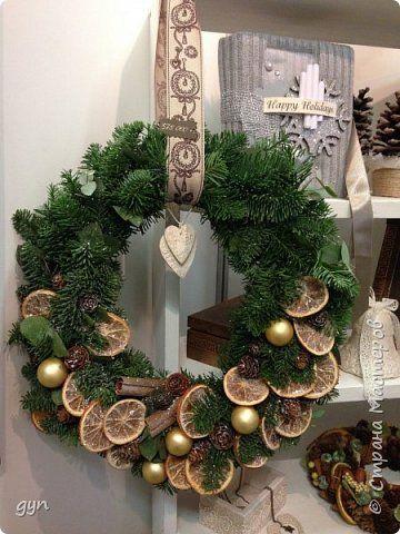 Поделка изделие Новый год Моделирование конструирование Новогодние и рождественские венки Материал природный Шишки фото 6